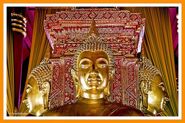 Statues of the Buddha at Wat Phumin, Thailand. Photograph by Deepak Bhatia