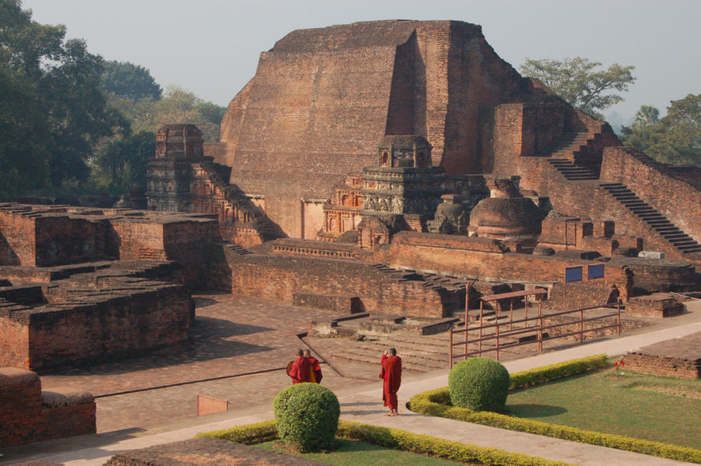 Ruins of the Old Nalanda University, India.