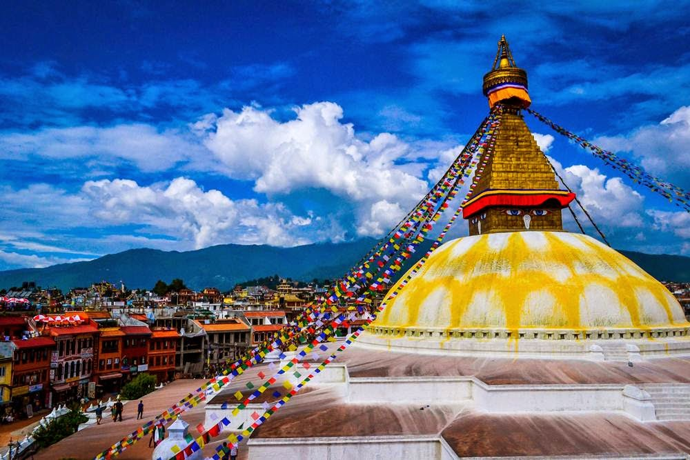 Boudhanath Stupa at the birthplace of Buddha, Nepal is one of the largest Stupas in the world.