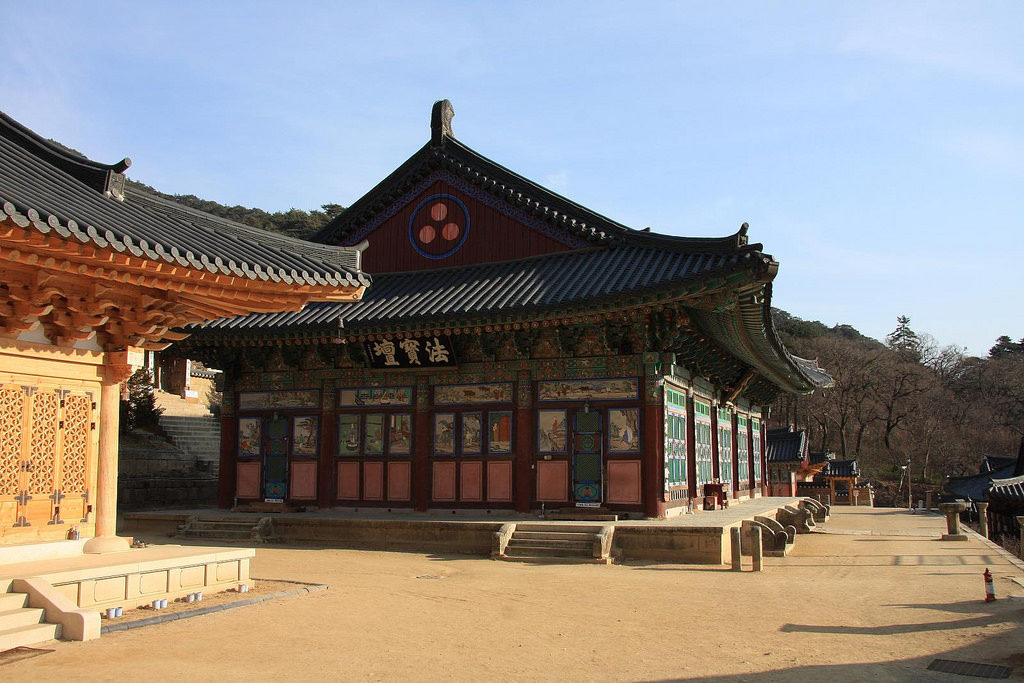 The Famous Haeinsa Temple of South Korea. The temple was built in 802 and its greatest treasure is the Korean Tripitaka written in 81,258 wooden blocks.